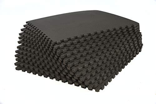 bonsport Bodenschutzmatten 12er-Set - Puzzlematte 40x40cm Bodenmatte Schutzmatte