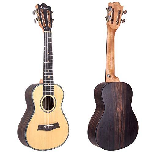 Ukulele 23 Inch Concert Ukelele Hawaii Guitar Classical Type Uke Solid Spruce From Kmise (Ukulele Only)