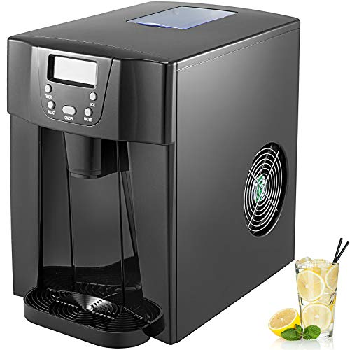 BuoQua 12KG Ice Maker Stainless Steel 220V Black Ice Cube Maker Machine...