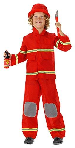 Costume da pompiere 3 pezzi - taglia M per bambini - 116-134