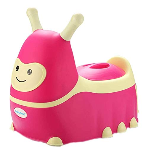 AITAOZI Potty Asiento Lindo Entrenamiento de Entrenamiento Asiento Entrenador de Inodoro para niños pequeños, Silla de baño con Taburete con Taza de residuos extraíbles para niña (Color : Red)