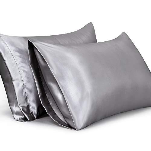 Leeden Satin Pillowcases Set of 2 Ultra Soft Standard Size