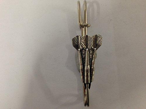 S13 Three Darts kilt pin Scarf or Brooch pin pewter emblem 2.5 Inch handmade in sheffield