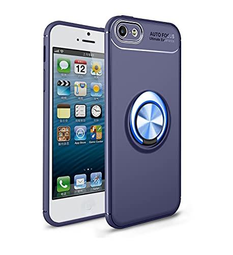 Funda protectora, Estuche protector para iPhone 5 / 5S / SE Caso Soft TPU Funda a prueba de golpes 360 grados Rotación Metal Anillo Magnético Kickstand DISIPACIÓN DE CALOR DISTRIBA DE PROTECTIVO DE CA