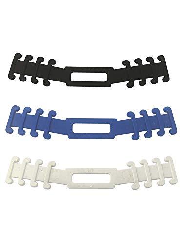 5 piezas de sujeta mascarillas salvaorejas o extensión de correa para mascarilla, previene el dolor de oído,accesorios en color en negro.