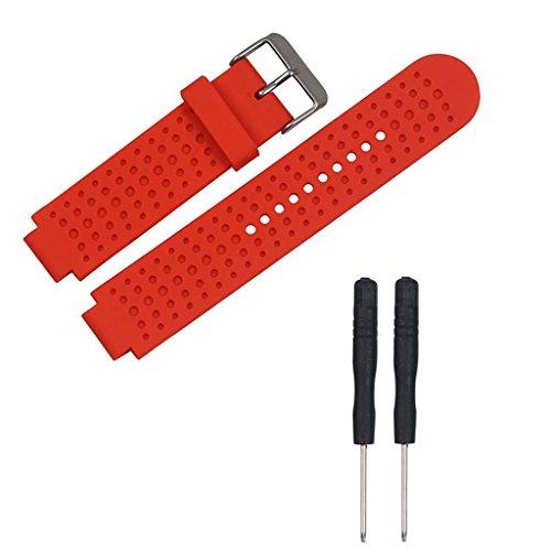 Muñequera De Repuesto De Silicona Suave Compatible con -Reloj GPS -Garmin Forerunner 25 con Herramientas
