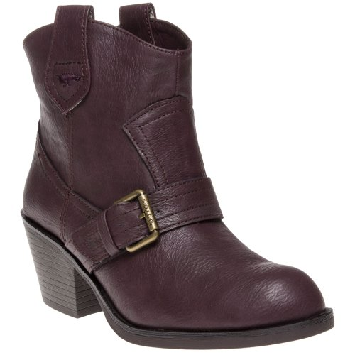 Rocket Dog Women's Ruben Ankle Boot Cuban Heel UK4 - EU37 - US6 - AU5 Wine