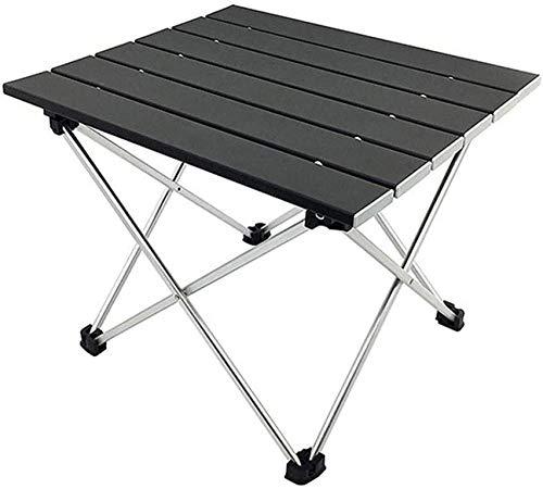 Silla plegable para acampar Mesa portátil para acampar con tablero de aluminio Mesa plegable con tapa dura en una mochila para acampar Campamento Playa Útil para comer Cortar Cocinar con quemador