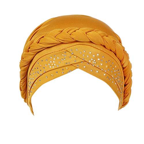 FeiBeauty Muslim Packung gebunden Kopf Schal Hut ethnisch Aufdruck Turban Kopfbedeckung Damen Stretch Blume Muslime Kopftuch Unisex Kappe Aus Baumwolle für Krebs