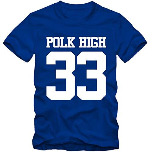T-Shirt Polk HIGH 33 Al Bundy no ma am Shirt, Farbe:blau, Größe:M