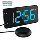 Extra Loud Alarm Clock with Bed Shaker, Vibrating Alarm Clock for Heavy Sleepers
