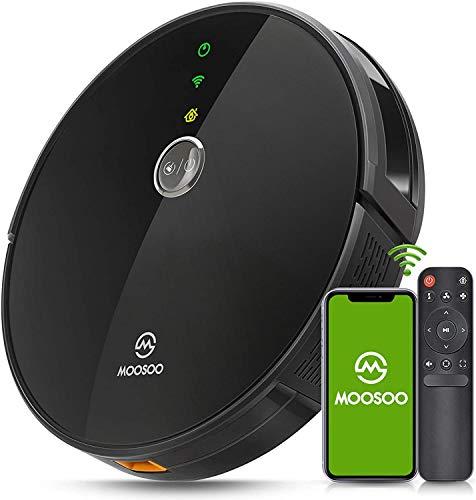 MooSoo Robot Aspirador -Wi-Fi Conectado, Succión 2000Pa,...