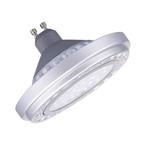 Foco LED regulable GU10 AR111 de 15 W, ángulo de visión de