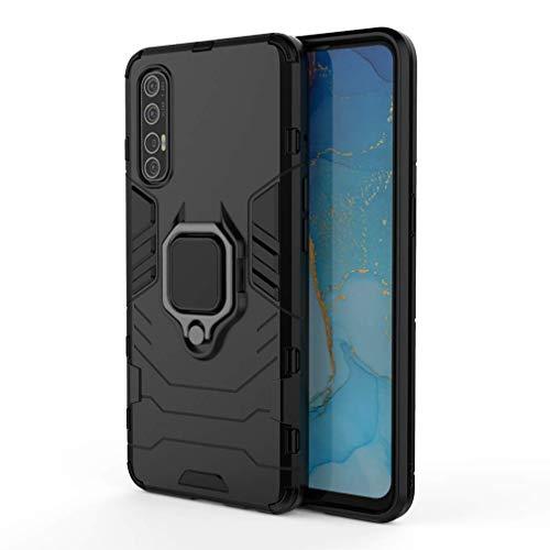 Larook Funda para Samsung Galaxy A20e, soporte de anillo giratorio de 360 grados, resistente a prueba de golpes, carcasa rígida de PC con soporte magnético para coche, color azul