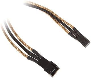BitFenix 3-Pin Verlängerung 60cm - Sleeved Gold/Black