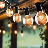 Guirlande Lumineuse Intérieure et Extérieure FOCHEA 9.5M Guirlande Guinguette Raccordable Ultra-longue avec 25 Ampoules+4 Ampoules de Rechange pour Jardin/Terrasse/Salon/Chambre