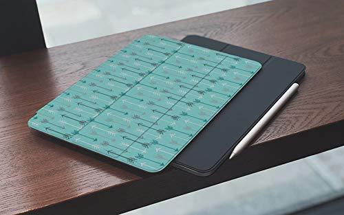 Funda para iPad 10.2 Pulgadas,2019/2020 Modelo, 7ª / 8ª generación,Azul Linda Retro Flecha Gris Verde azulado Tiro con arco Colección dibujada Direcció Smart Leather Stand Cover with Auto Wake