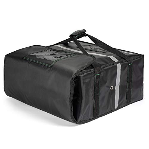 Homevative Insulated Pizza & Food Delivery Bag, fits 4 Large Pizzas or Trays, 20' x 20' x 8', Black