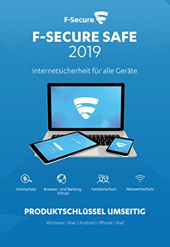 F-Secure SAFE Internet Security 2019 - 1 Jahr/5 Geräte für Multi Plattform (PC, Mac, Android und iOS)