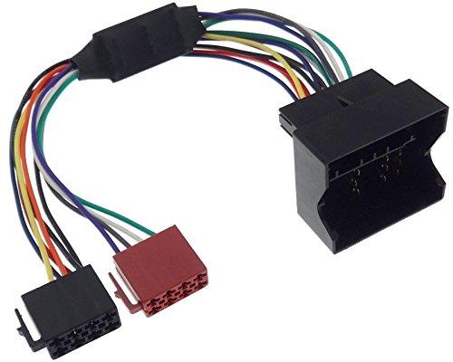Harman Kardon Aktivsystem Adapter kompatibel mit BMW ISO Quadlock Stecker Radio Lautsprecher