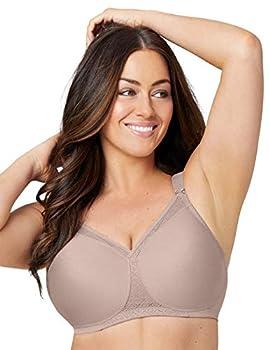 Glamorise Full Figure Plus Size MagicLift Seamless T-Shirt Bra Wirefree #1080 Taupe