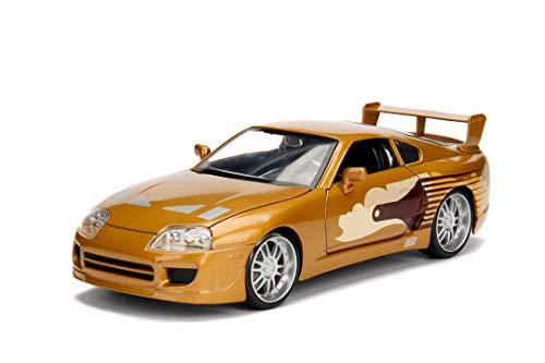 Jada Toys Fast & Furious Slap Jack's Toyota Supra, 1995, Spielzeugauto aus Die-cast, öffnende Türen, Kofferraum & Motorhaube, Maßstab 1:24, bronze