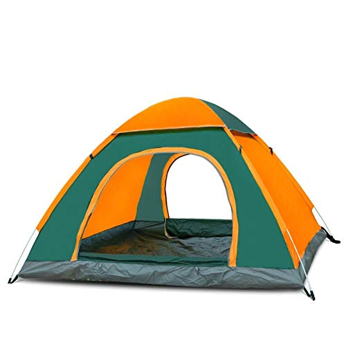 GOOHEAL Outdoor Waterproof Hiking Camping Tent, Anti-Uv Portable 4 Person Ultralight Folding Tent Pop Up Automatic Open Sun Shade