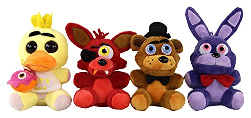 Five Nights at Freddy's Inspired Plush Dolls Stuffed Animal Toys, 4 Piece