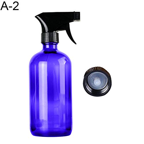 250 / 500ml Portable Leeg Glas Spray Fles etherische olie Cleaner navulbare Vloeistofvernevelingsinrichting Spray fles Make-up Parfum Sprayer Container gemakkelijk te gebruiken (Color : Blue 500ml)