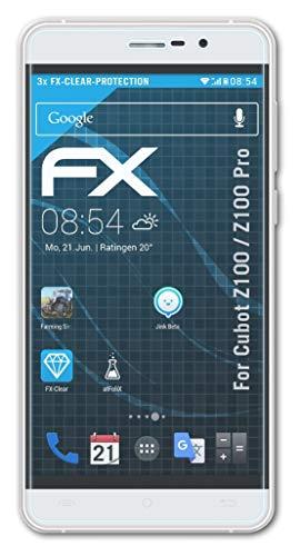 atFolix Schutzfolie kompatibel mit Cubot Z100 / Z100 Pro Folie, ultraklare FX Bildschirmschutzfolie (3X)