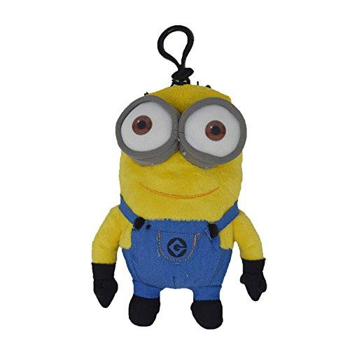Despicable Me - Two Eye Minion 7-inch Plush Coin Clip Key Chain Toy Bag