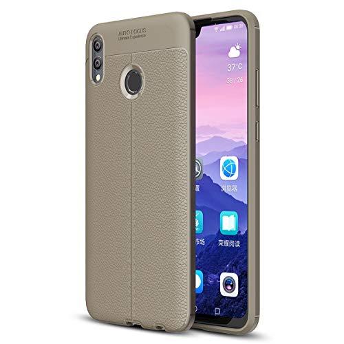 Yoodi Capa para Huawei Honor 8X Max, capa fina para negócios, flexível, TPU silicone, antiderrapante, absorção de choque, capa de proteção contra quedas para Huawei Honor 8X Max/Enjoy Max 7,2 polegadas - Cinza