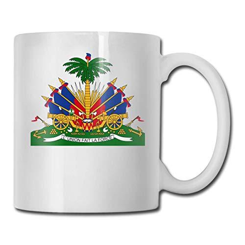 N\A Wappen von Haiti Lustige Kaffeetasse Coole Kaffee-Teetasse Familie und Freund