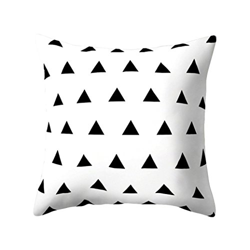 dragonaur Kissenbezug, geometrisches Design, quadratisch, Pfirsichhauteffekt, Schwarz/Weiß, Pfirsichhaut, 2#, M