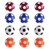 RAYNA GAMES Juego de 12 pelotas de futbolín, tamaño regular, 32 mm, multicolor