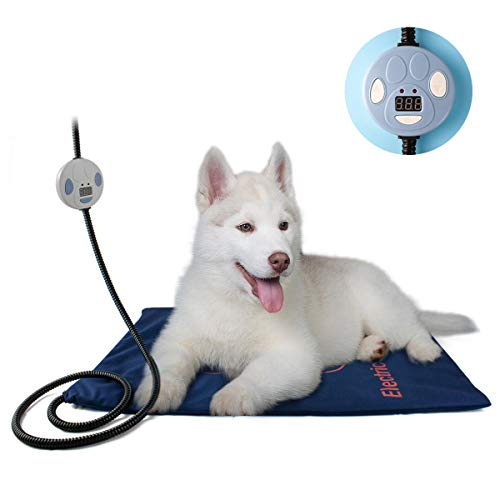 GJNWRQCY verwarmingskussen voor huisdieren, verbeterde elektrische hondenkat verwarmingskussen, voor binnen en buiten, waterdicht, automatische uitschakeling