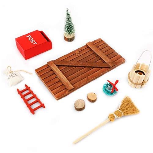 Hotaden Muebles de la simulación Juguetes, Casa de muñecas en Miniatura Accesorios Conjunto de muñecas Adornos de jardín de casa de muñecas Ornamento Manualidades Artículos
