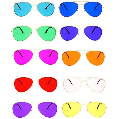 %50 OFF! Color Therapy Glasses by Hooga. Aviator Style. Chakra, Mood Light Therapy, Chromotherapy Co...