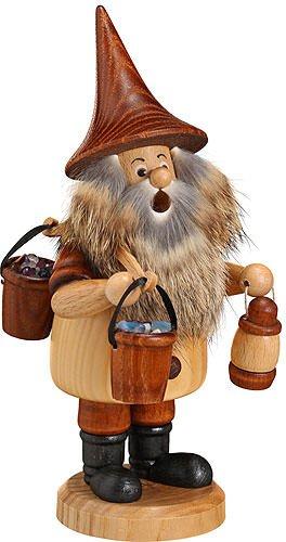 German Incense Smoker Mountain Gnome Bucket - 18cm / 7inch - Drechselwerkstatt Uhlig