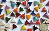 Bazare Masud e.K. 50g Keramik Mosaiksteine dreieckig Seitenlänge ca. 14