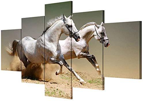 RR&LL Hang-Dressers Canvas Wandkunst Wand Paiting Paard Afbeelding Canvas Woonkamer Decoratie Schilderij Wandschilderij (grootte: B)