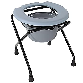 Kunida Designs Commode de Chevet avec Seau Amovible - Commode de Toilette Pliante légère pour Le Camping - Chaise de Toilette médicale pour Personnes âgées