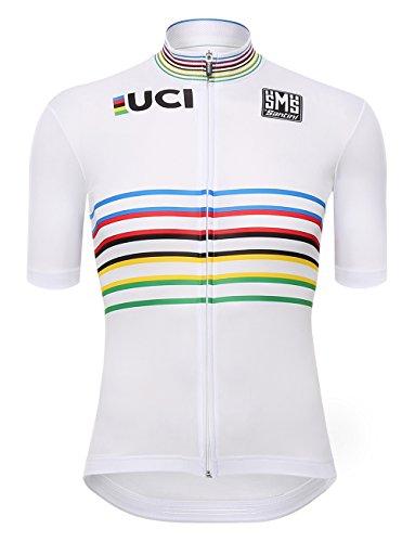 Santini UCI Master Campion del Mondo, Maglia Manica Corta Uomo, Multicolore, L