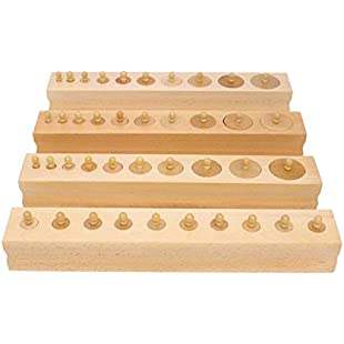 QXMEI Children's Toys Children's Blocks Educational Toys Montessori Teaching Aids Cylinder Early Education Wooden Puzzle:Hitspoker