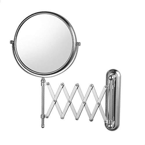 MRJ Kosmetikspiegel mit 1x/10x Fache Vergrößerung Schminkspiegel Rasierspiegel 360°Schwenkbar Faltbar Wandmontage für Badezimmer