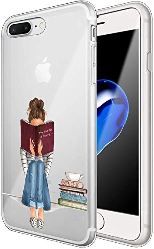 Alsoar Compatibile per Custodia iPhone 8 Plus/7 Plus 5.5', Case Elefante Ultra Slim Sottile e Anti-Graffio Antiscivolo Silicone Custodia Cover per iPhone 8 Plus, iPhone 7 Plus 5.5 Pollice (Orso)