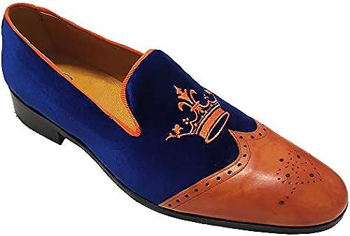 Garofalo Gianbattista , Herren Mokkasins Blau Blau Arancio