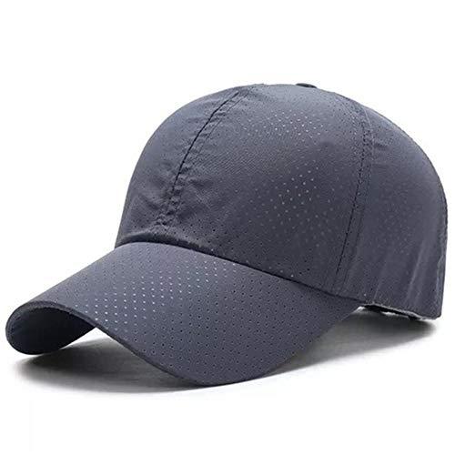 cappello q4 CappelloUomo Berretto Berretto da Baseball alla Moda per Uomo Bone Cappelli in Mesh Traspiranti Cappelli Sportivi da Donna in Tinta Unita Cappelli Sportivi da Esterno DarkGrey