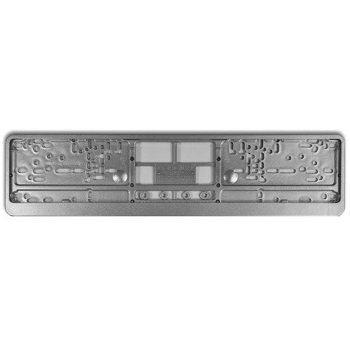 KFZ Kennzeichenhalter Design Nummernschildhalter (Highgloss Silver - 40019)