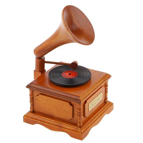 Decoración scritorio Gramófono de Madera Caja de Música Melodía - El Viaje de Chihiro